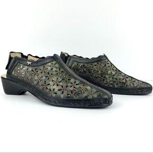 PIKOLINOS  Romano Floral Leather Cutout Slingbacks